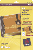 AVERY CD INSERT MATT INKJET WHT J8435-25
