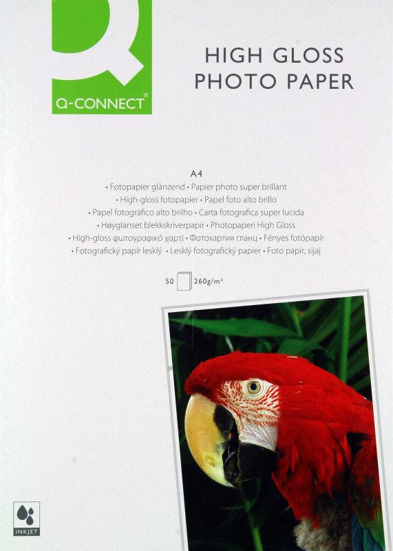 QCONNECT A4 HIGLS PHOTO PAPER 260G PK50