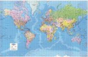 MAP GIANT WORLD POLITICAL MAP LAMIN GWLD