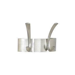 Safco Curve 2-Hook Coat Rack - Silver