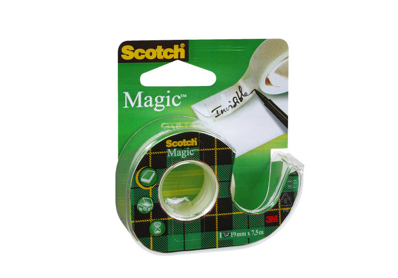 Scotch Magic Tape 19mmx7.5m Clr 81975d - 12 Pack