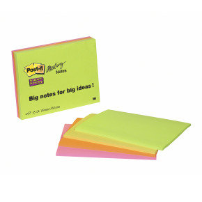 POSTIT SUPERSTICKY MEET NEON 149MM PK4