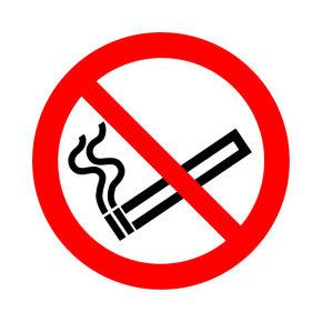 SIGNSLAB 50X50 NO SMOKING SYMBOL S/A