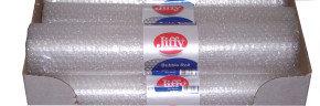 Jiffy Sml Bub Mini Roll 500mx3M Clear - 20 Pack