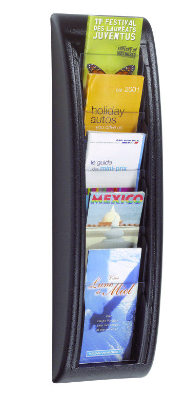 Fast Paper Quick Fit Wall Display System 1/3XA4/Dl Black