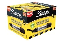 Sharpie Metal Perm Markr Xlrg Chisel Blk - 12 Pack