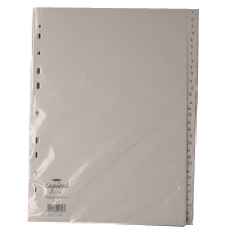 Extra Value 1-31 White Plastic Dividers