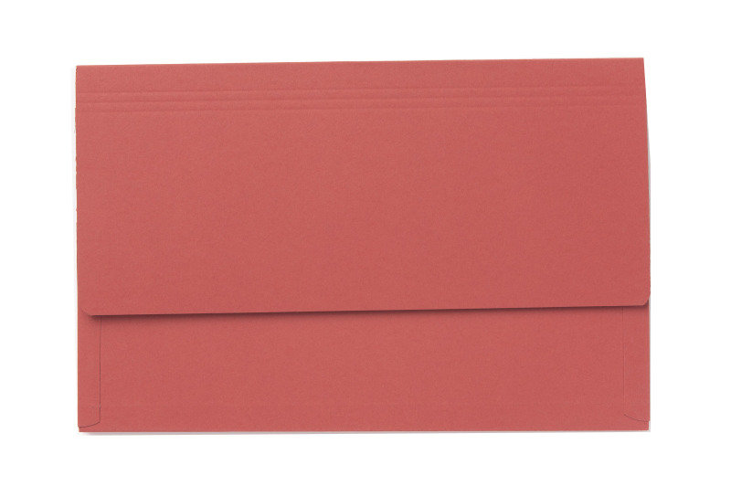 Image of Guildhall 3/4 Flap Legal Document Wallet Red