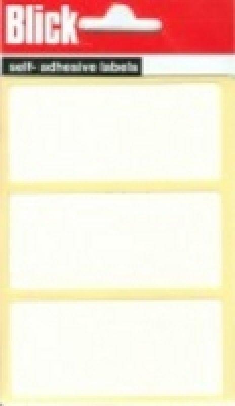Blick Label Bag 34x75 Wht Pk21 003755 - 20 Pack