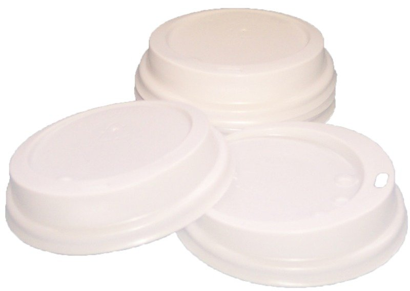 RY CATERPACK 35CL PPR CUP LIDS WHT PK100