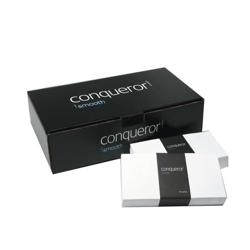 Image of CONQUEROR WOVE DL ENV BRILL WHITE PK500