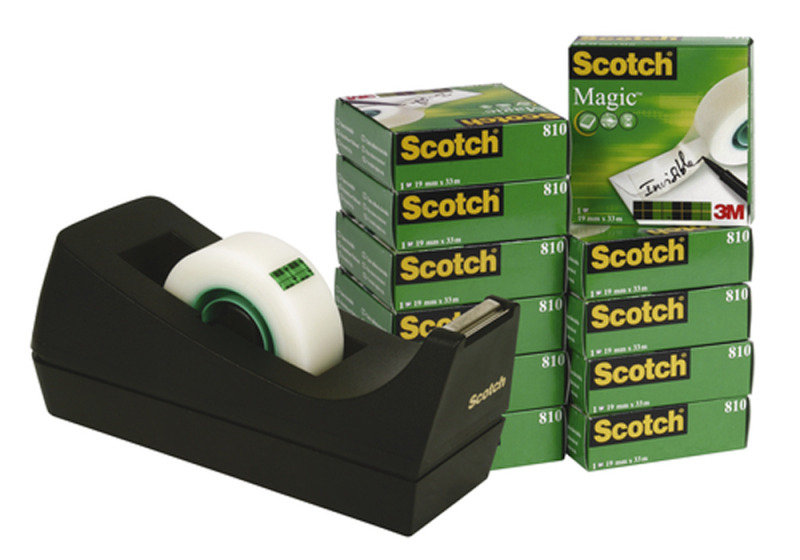 Scotch Magic Tape - 12 Pack with Free Dispenser
