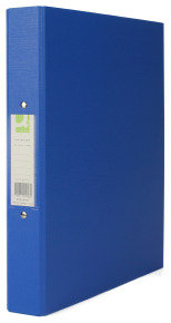 Q Connect A4 2 Ring Binder Pp Blu - 10 Pack
