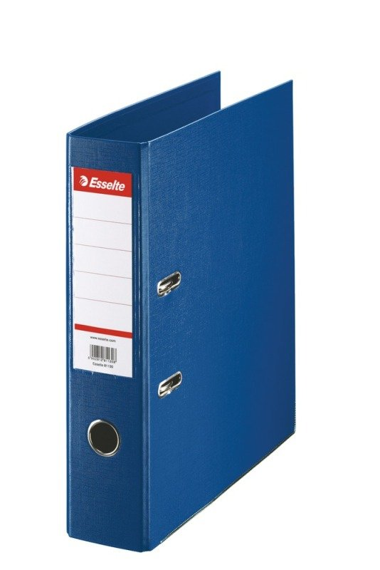 Image of Esselte A4 Pvc Lever Arch 75mm Blue - 10 Pack