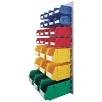 VFM Coloured Wall Mounted Bin Storage Unit