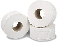 2Work White 2-Ply Mini Jumbo Roll  (Pack of 12)