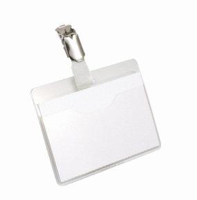 Durable Visitor Badge Landscape 60x90mm 25 Pack