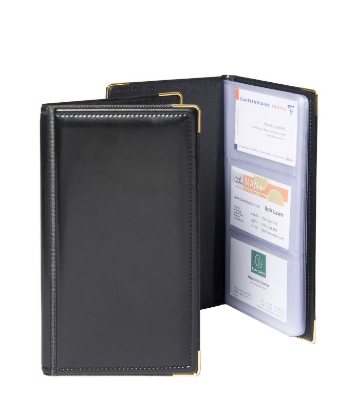 Image of Goldline Business Card Holder Black