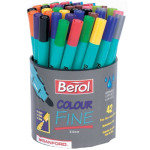 BEROL COLOUR FINE ASSORTED TUB 42 CFT