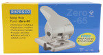 Rapesco Zero-65 Heavy Duty Hole Punch (65 Sheets) (silver)
