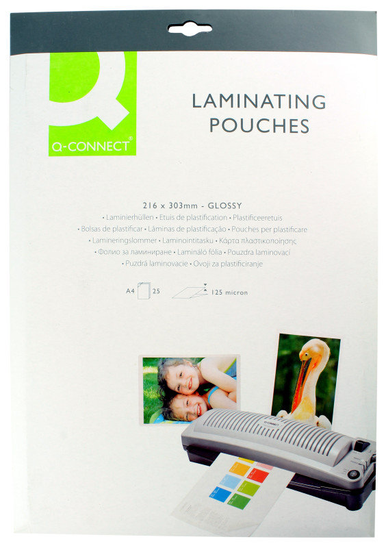 Q CONNECT LAMINATING POUCH A4 125MIC P25