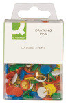 Q Connect Drawing Pins Coloured Pk120 - 10 Pack