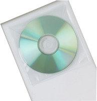 Q Connect Clear PP CD Envelopes - 50 Pack