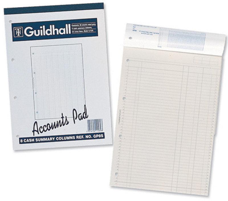 Guildhall Account Pad Summary