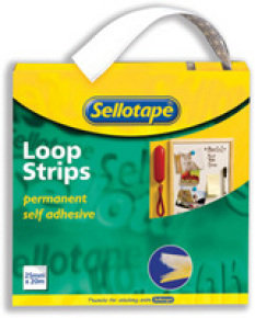 SELLOTAPE STICKY LOOP 25MMX12M 2265