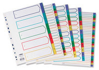 Concord Plastic Divider A4 5 Part Assorted