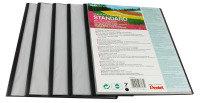Pentel Recy A4 Pres File 7pkt Black - 5 Pack