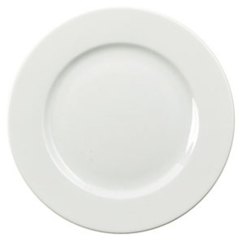 Image of CPD 25cm White Porcelain Plate - 6 Pack