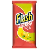 Flash Wipe & Go Lemon Cleaning Wipes (Pack of 40)