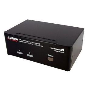 StarTech.com 2 Port DVI VGA Dual Monitor KVM Switch USB with Audio