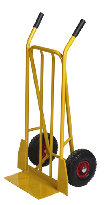 Yellow General Purpose Sack Truck Fixed Footplate