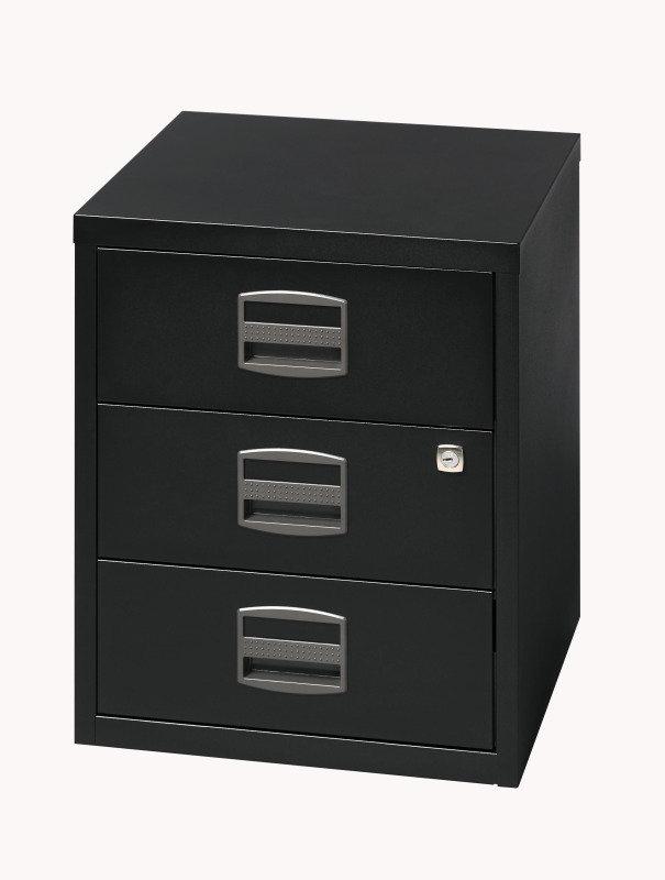 Image of Bisley A4 Mobile Home Filer 3 Drawer Black