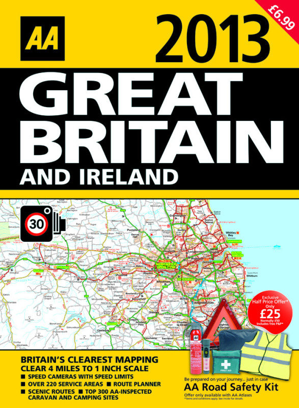 Image of AA ROAD ATLAS GREAT BRITAIN / IRE 2013