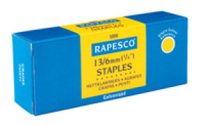 Rapesco 13/10mm Galvanised Staples