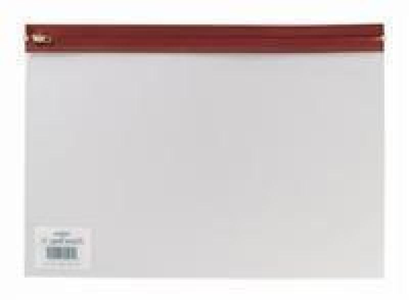 Snopake Zippa Bag A4 Plus Red 12805 - 25 Pack