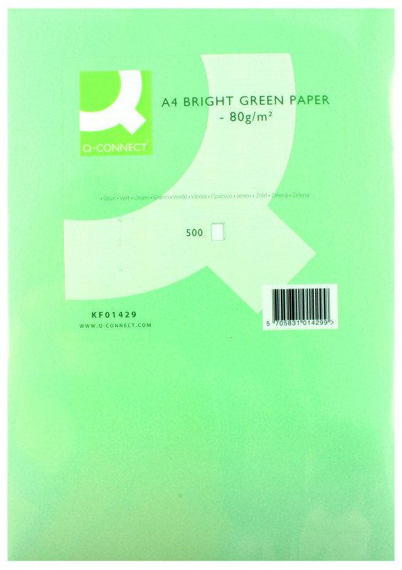 Q CONNECT CPR PPR A4 80GM B/GREEN PK500