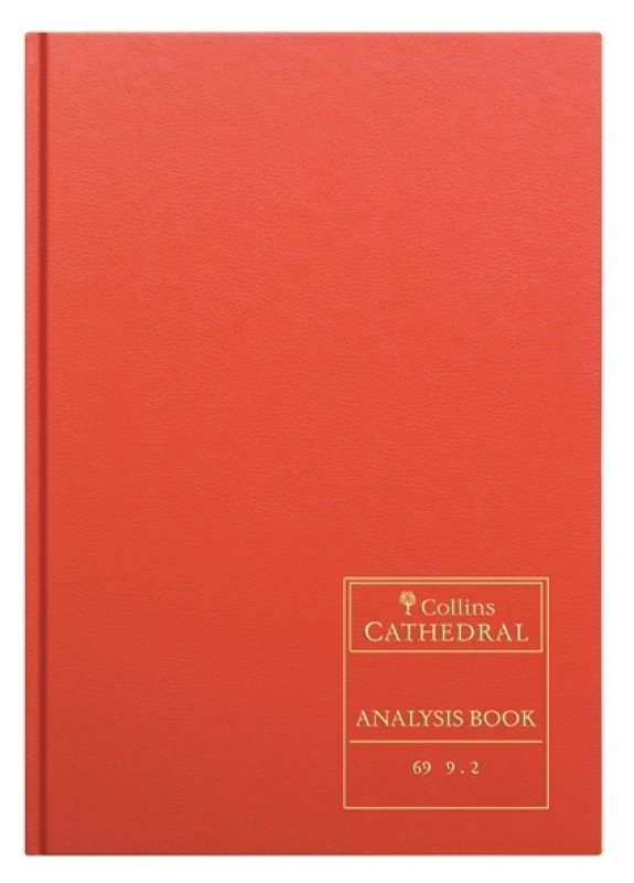 Image of CATHEDRAL ANALYSIS BK 96P RED 69/10.1