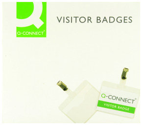 Q CONNECT VISITOR BADGE 60 X 90MM PK25