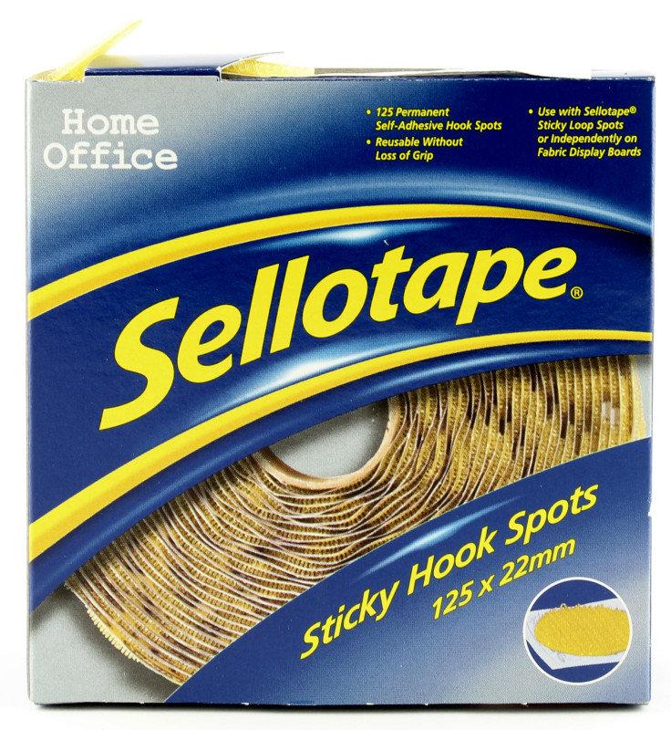 SELLOTAPE STICKY HOOK SPOTS PK125 4098
