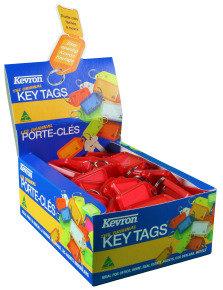 Kevron Plastic Clicktag Key Tag Red Pk 100