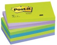 3M POSTIT DREAMY COLOURS PK6 76X127MM