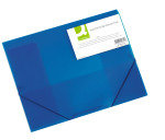 Q CONNECT ELASTICATED FOLIO BLUE