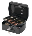 Q Connect 8 Inch Cash Box - Black