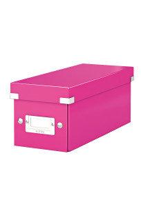 Leitz WOW Click & Store Media Storage Box - Pink