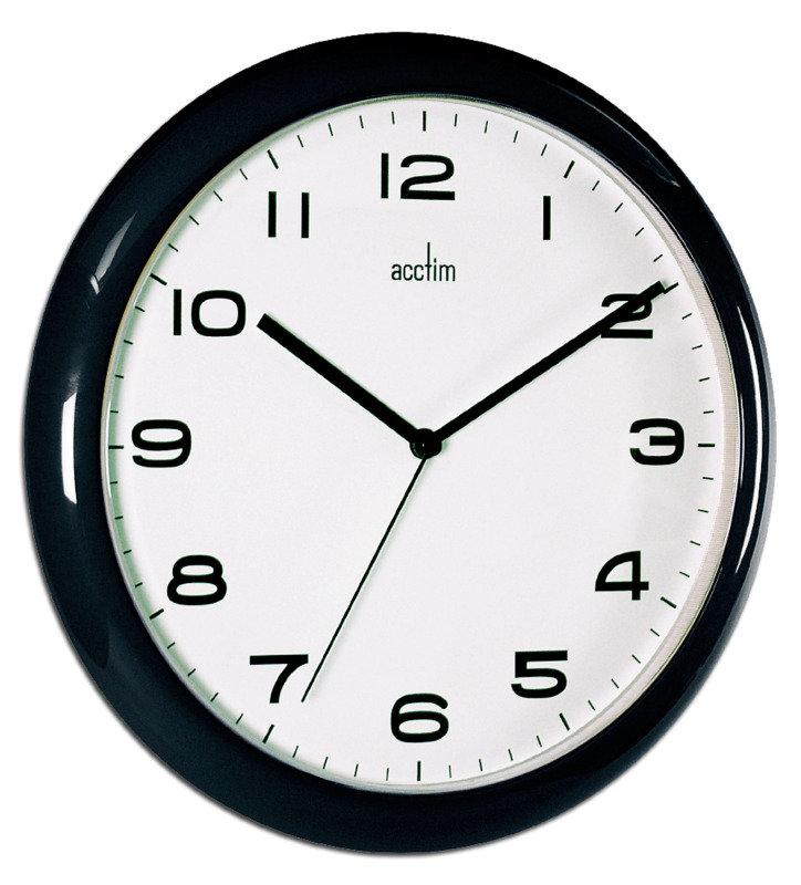 Image of ACCTIM AYLESBURY WALL CLOCK BLK 92/302