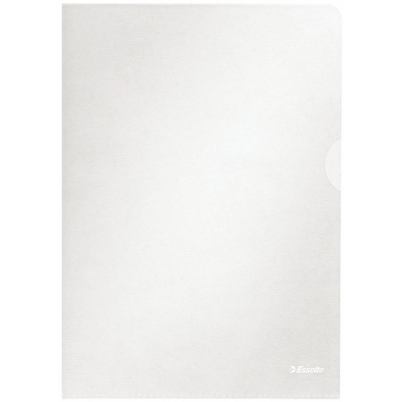 Image of ESSELTE CLEAR EMBOSSED A4 FOLDER PK100